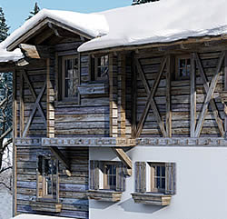sight of 6 to 8 person appartment in chalet in Ziller Valley Arena / Austria