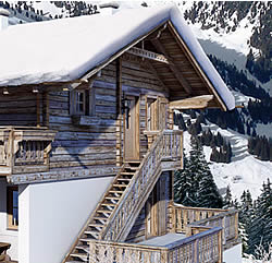 staircase to 6 bis 8 person appartment in chalet in Ziller Valley Arena / Austria