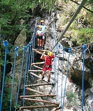 high ropes course  in Gerlos, Austria, Ziller Valley Arena