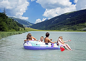 summer holiday in Austria - the storage lake near the chalet Austria, Ziller Valley Arena