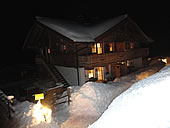 Chalet Austria at night